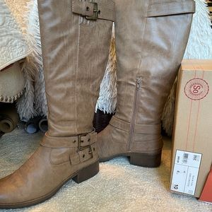 Knee high tan boots size 10